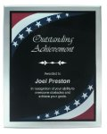 Patriotic Border Clear Acrylic Award Plaque Star Awards