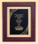 Rosewood Piano Finish Frame with Brass Plate Star Awards