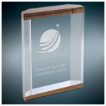 Wood Grain Top and Bottom Banded Capri Acrylic Traditional Acrylic Awards