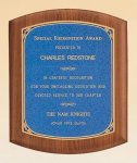 American Walnut Plaque with Linen Textured Plate Walnut Plaques