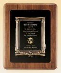 American Walnut Frame with Antique Bronze Casting Wreath Awards