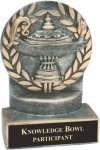 Lamp of Knowledge - Wreath Resin Trophy Wreath Resin Trophies
